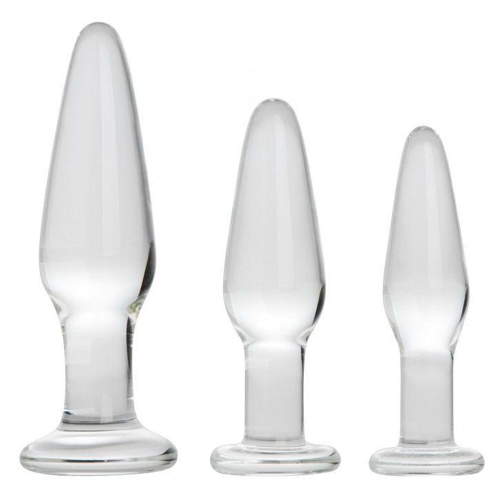 Dosha 3 Piece Glass Anal Plug Kit