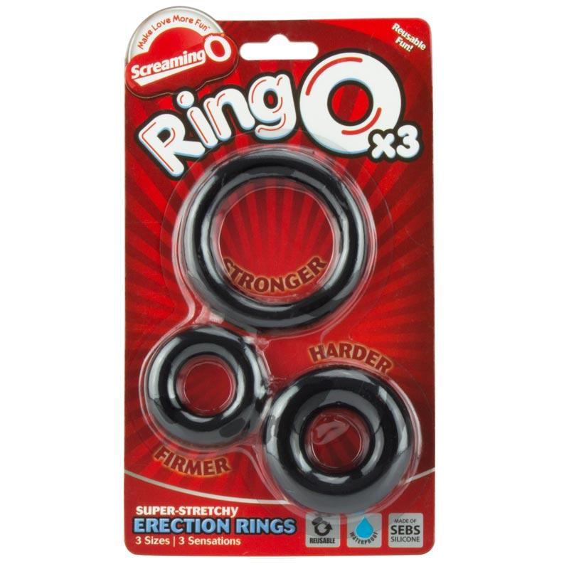 Screaming O Ring O x 3 Black Cockrings