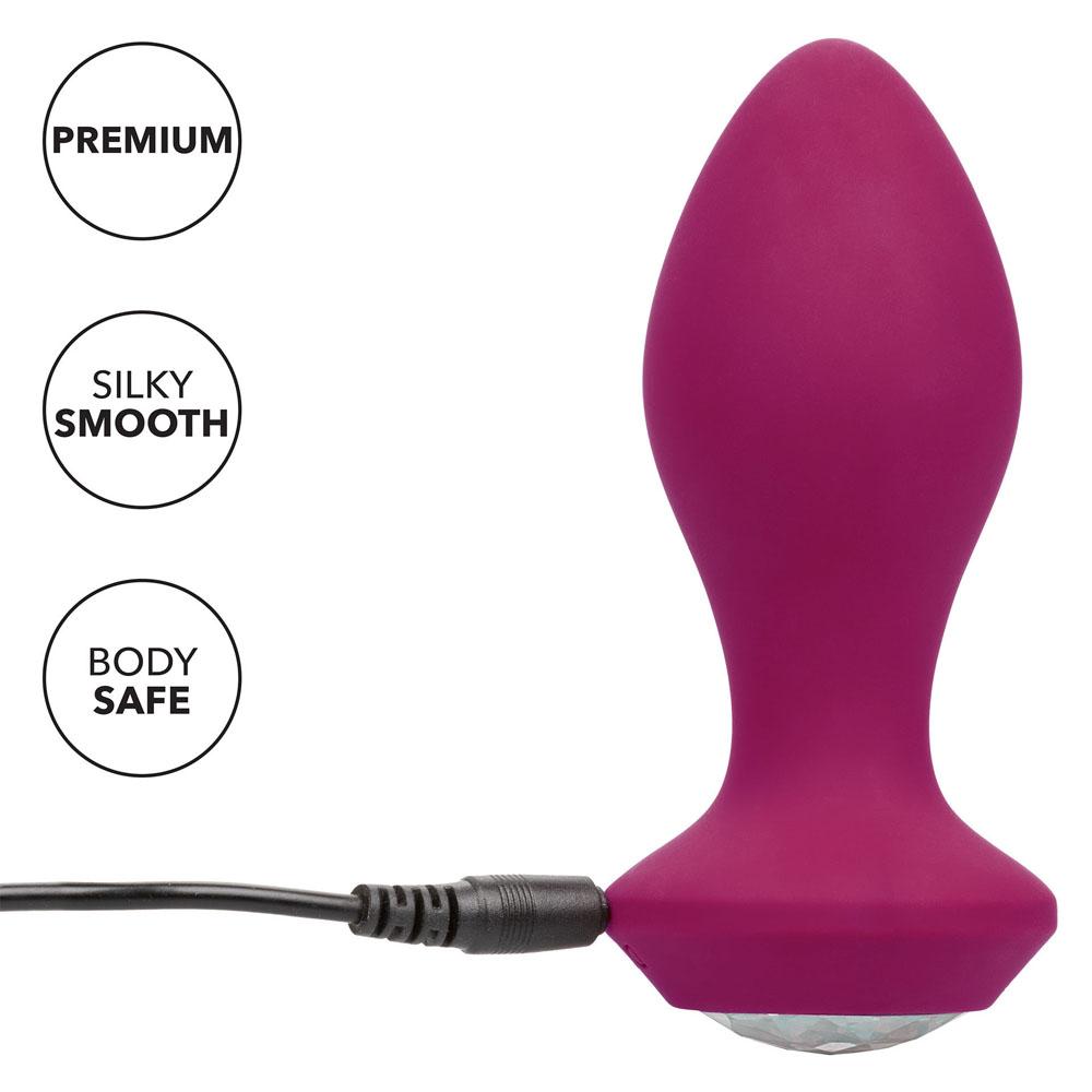 Power Gem Butt Plug Vibrating Crystal Probe