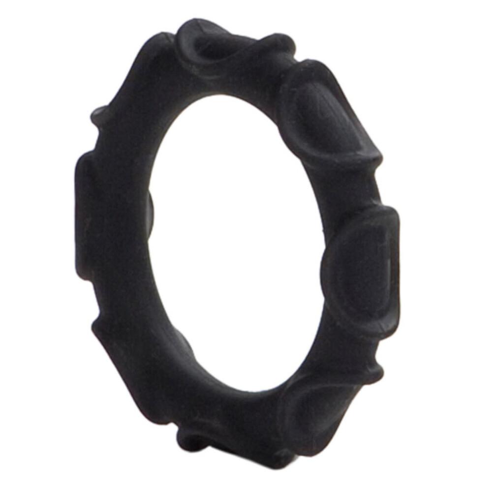 Atlas Silicone Cock Ring Black